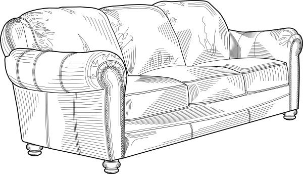Couch Furniture Clip Art-Couch Furniture clip art-6