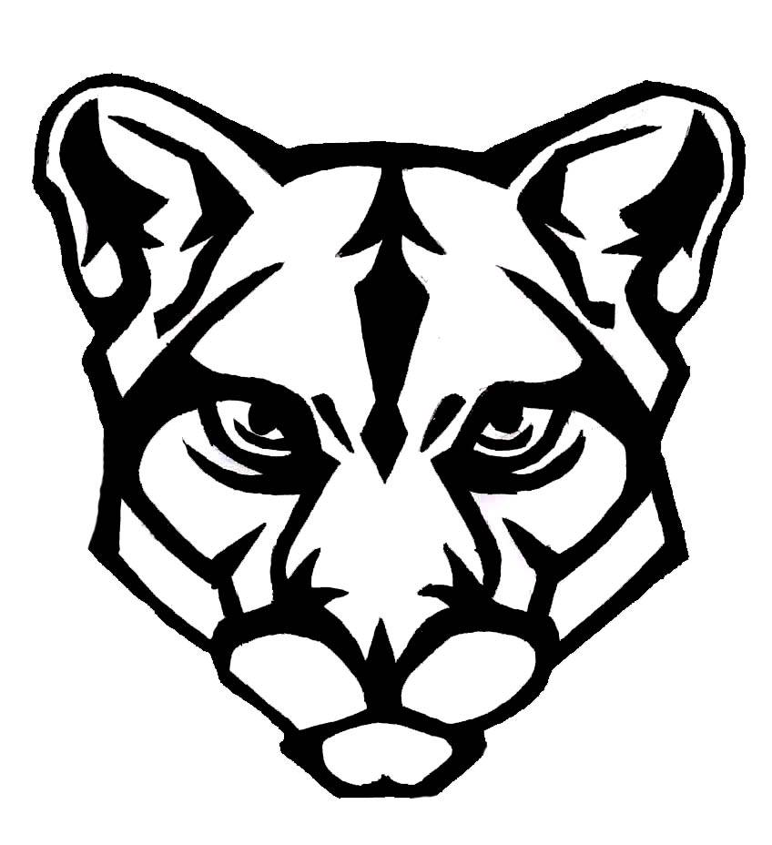 Cougar Clipart For Schools ... Panther H-Cougar Clipart For Schools ... Panther Head Vector By .-7