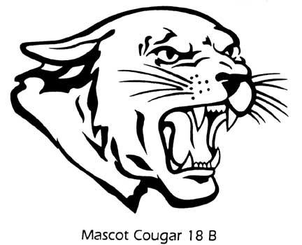 Cougar Mascot Clipart .-Cougar Mascot Clipart .-12