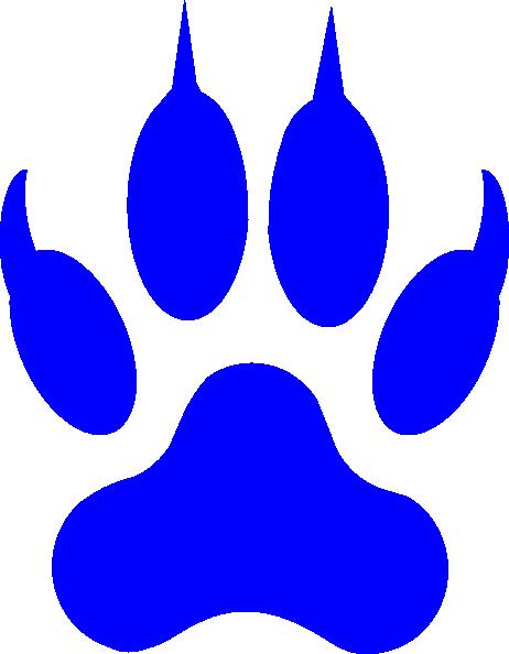Cougar Paw Print Clip Art Clipart Best