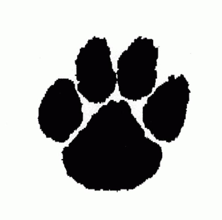 Cougar paw print clip art free clipart