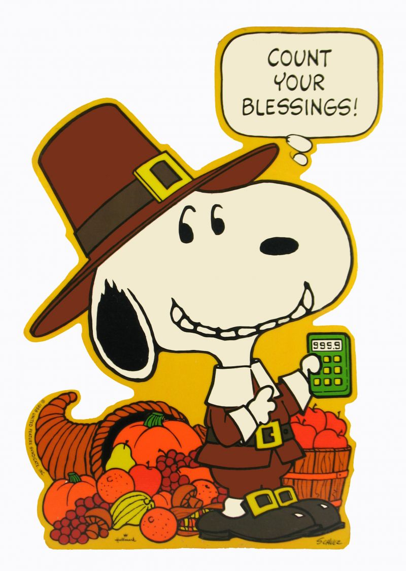 Count Your Blessings Snoopy Fall Frenzy Pinterest