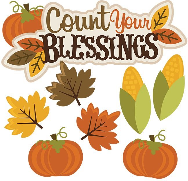 Count Your Blessings SVG than - Clip Art For Thanksgiving