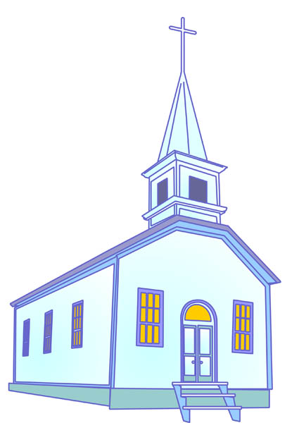 Country Church Building Free Clip Art