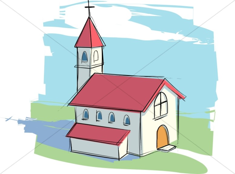 Country Church With Rural Landscape-Country Church with Rural Landscape-13
