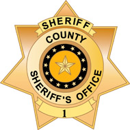 county sheriff badge. Size: 128 Kb