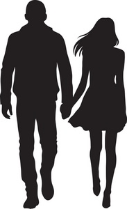 Couple Clipart Image Silhouette Of A Cou-Couple Clipart Image Silhouette Of A Couple A Boy And Girl Holding-7