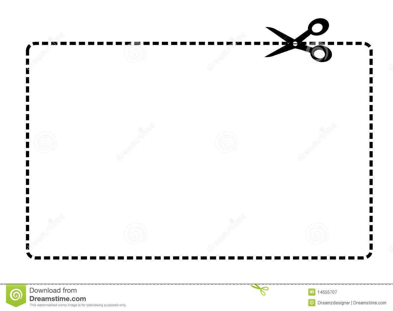 Coupon Border Vector Royalty Free Stock -Coupon Border Vector Royalty Free Stock Photography Image 14555707-15