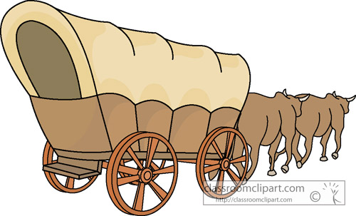 Covered Wagon Clipart #1 .
