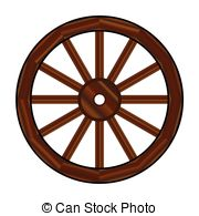 ... Covered Wagon Wheel - A typical wheel from a western covered.