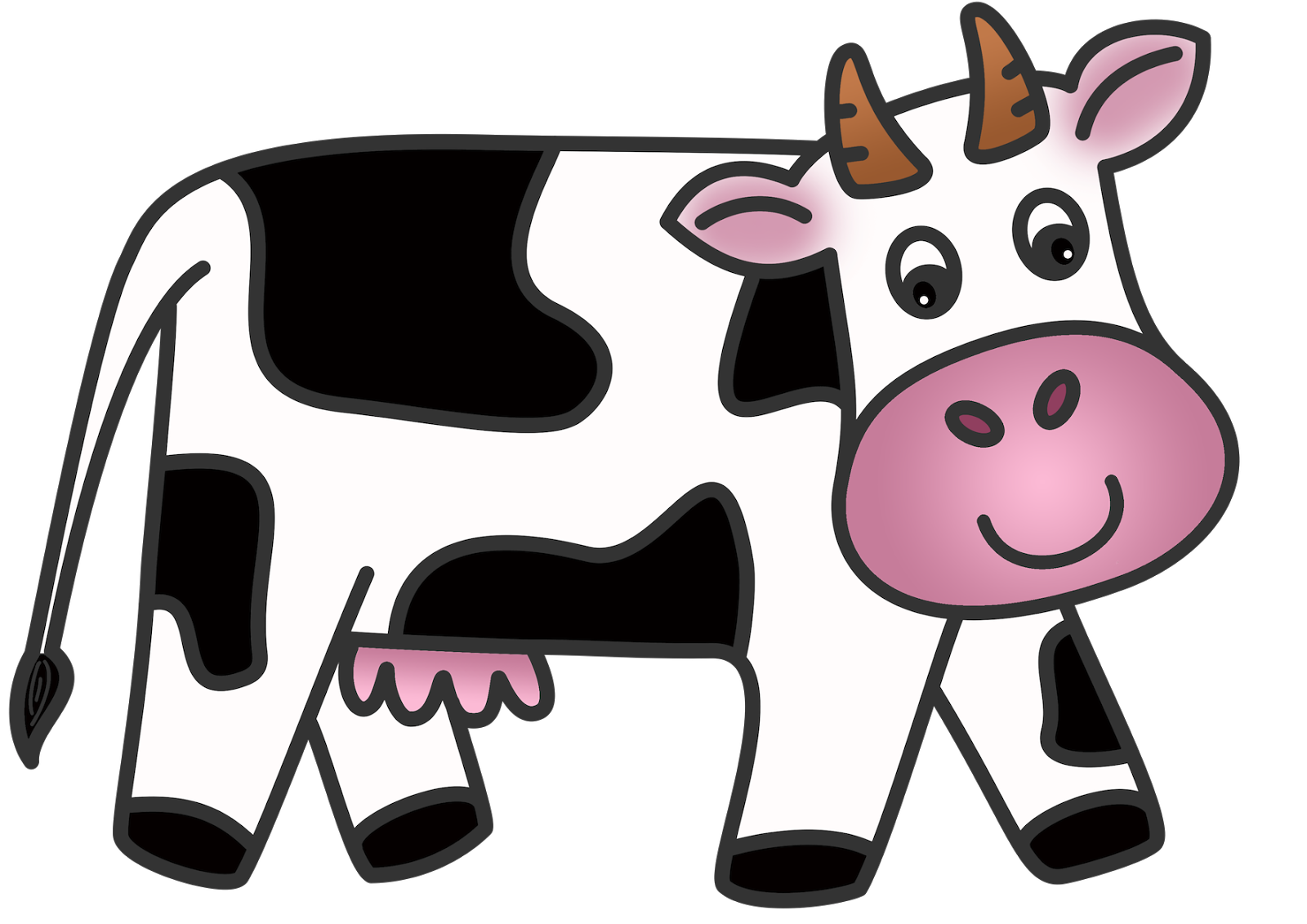 Cow Clip Art Animated Cow .