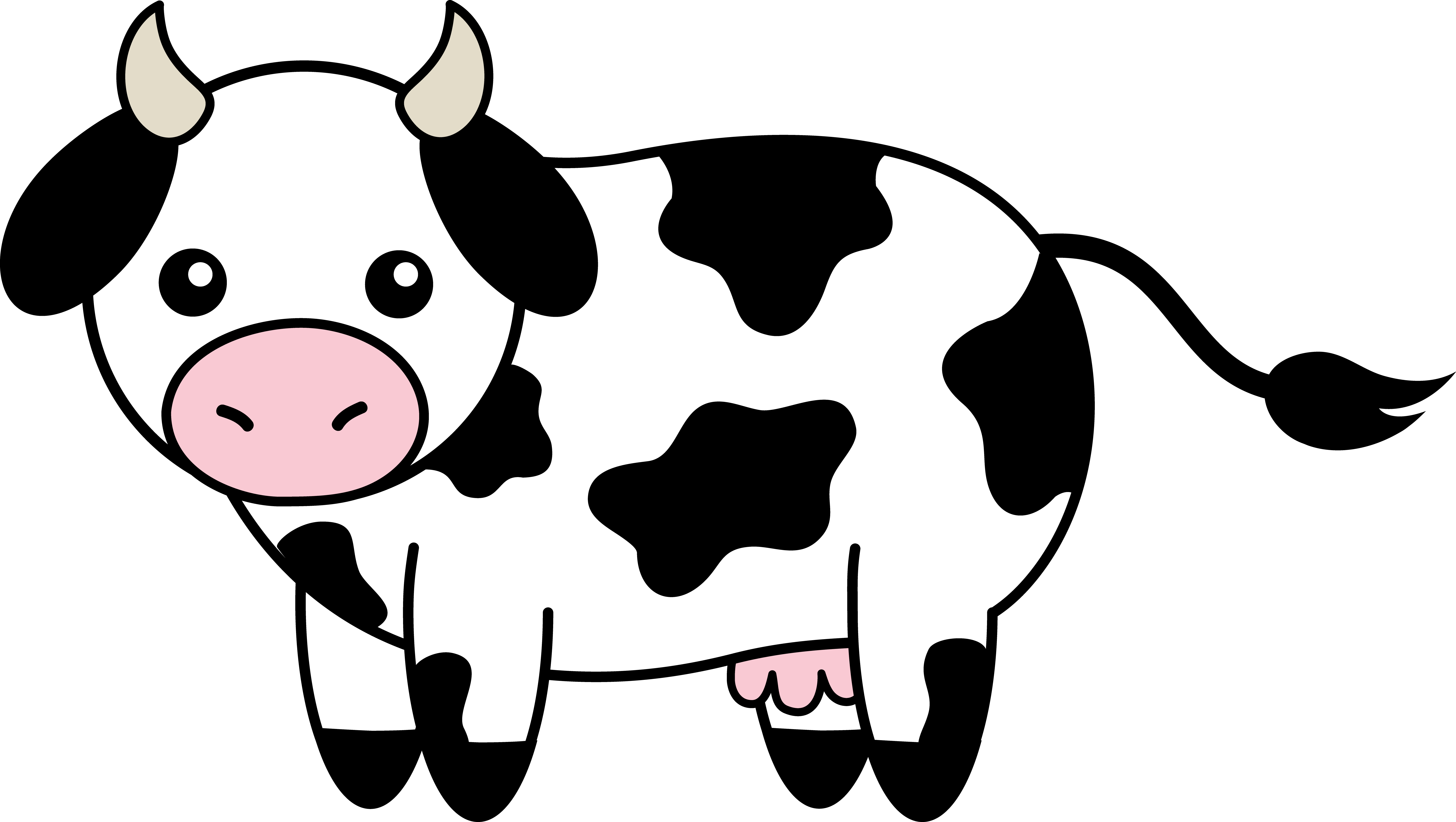 Cow Clipart Black And White | Clipart library - Free Clipart Images