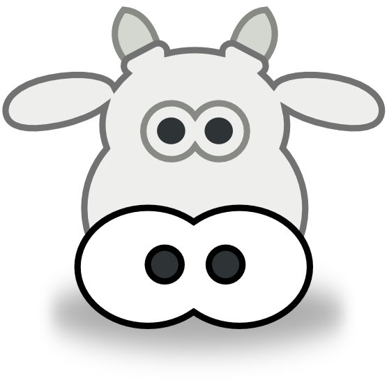Cow Clipart Black And White Ngo Style Cow Head Black White Line Art