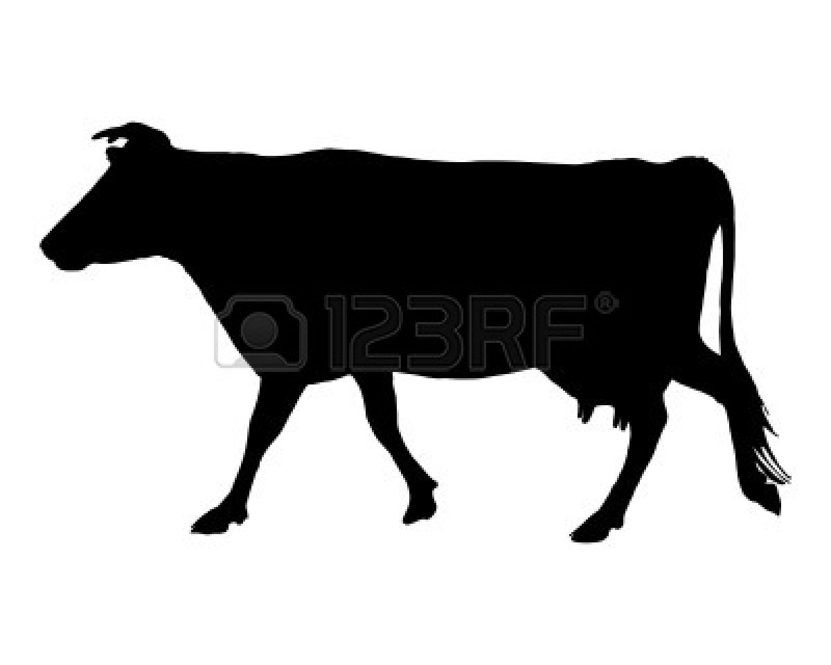 Cow Head Clipart Black And White 5004123-Cow Head Clipart Black And White 5004123 The Black Silhouette Of A Cow-7