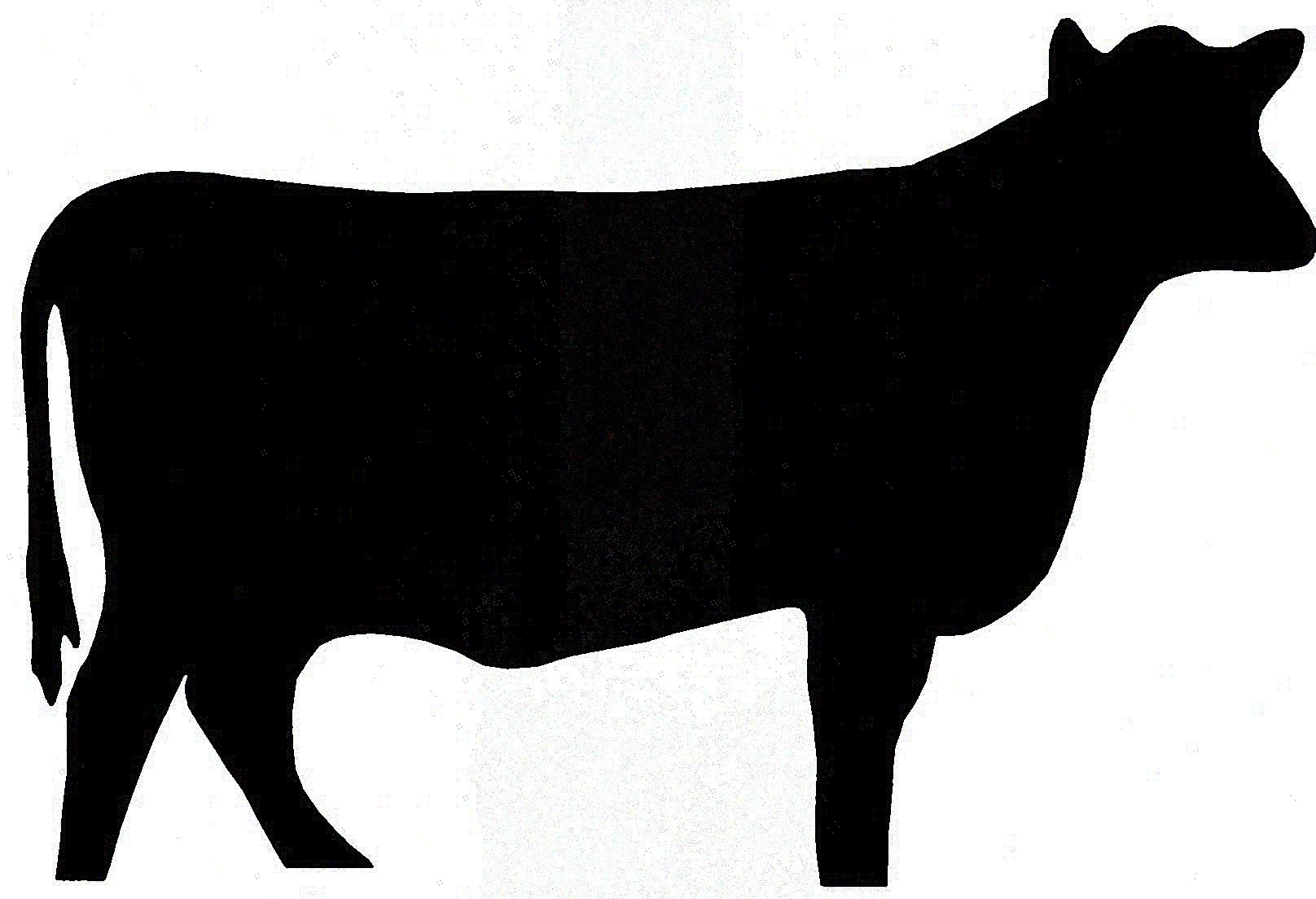 Cow Head Silhouette Clip Art Clipart Pan-Cow Head Silhouette Clip Art Clipart Panda Free Clipart Images-7