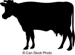... Cow Silhouette - A Silhouette Of Cow-... Cow silhouette - a silhouette of cow-8