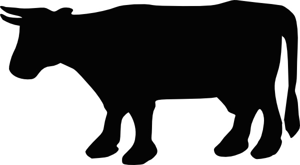 Cow Silhouette Clip Art-Cow Silhouette clip art-11