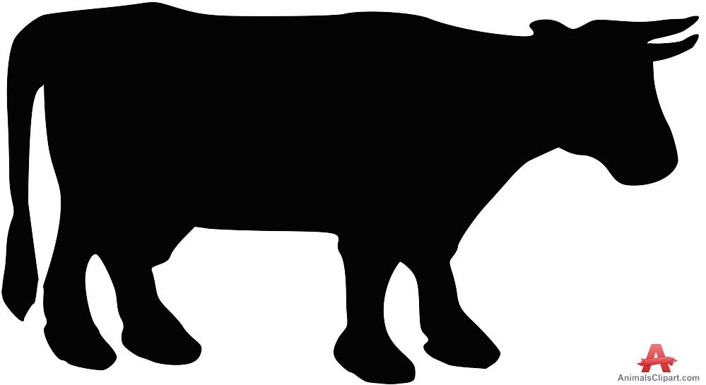 Cow Silhouette Clipart-Cow Silhouette Clipart-13