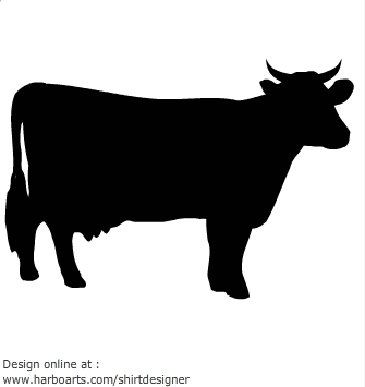 Cow Silhouette - Vector .-Cow Silhouette - Vector .-15