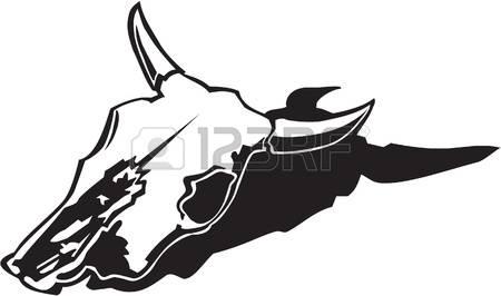 cow skull: Cow Skull Vinyl Ready Illustr-cow skull: Cow Skull Vinyl Ready Illustration Illustration-15