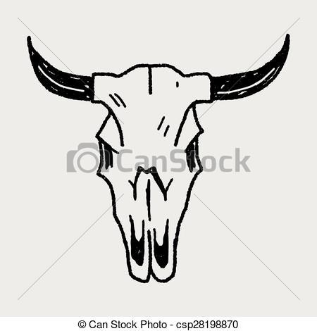 ... cow skull doodle-... cow skull doodle-11