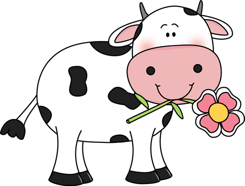 Cow With A Flower In Its Mouth-Cow with a Flower in its Mouth-14