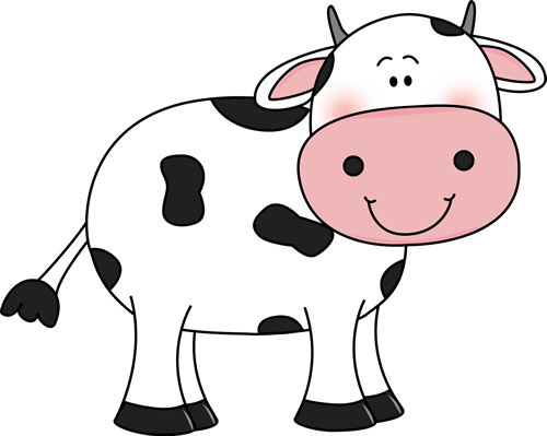 Cow With Black Spots Clip Art Image Cute White Cow With Black Spots