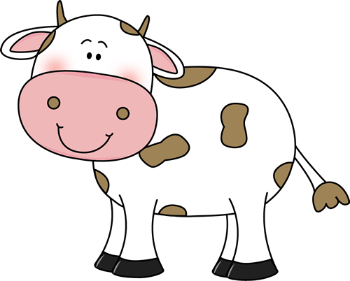 Cow with Brown Spots