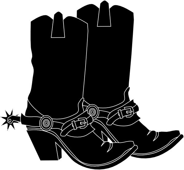 cowboy boots clipart black and white-cowboy boots clipart black and white-18