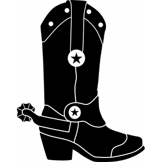 Cowboy Boots Clipart Black And White-cowboy boots clipart black and white-3