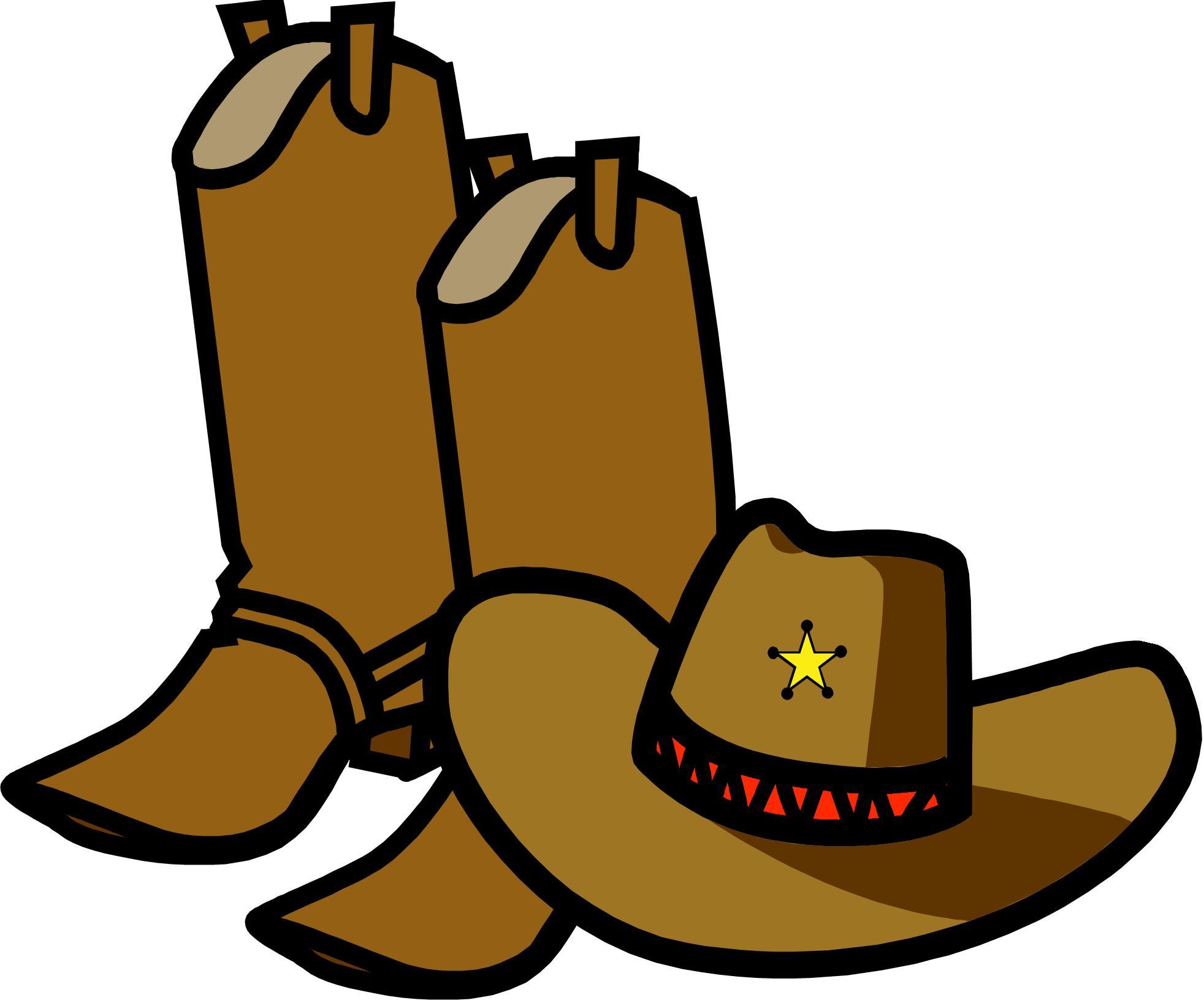 Cowboy boot clip art baby .