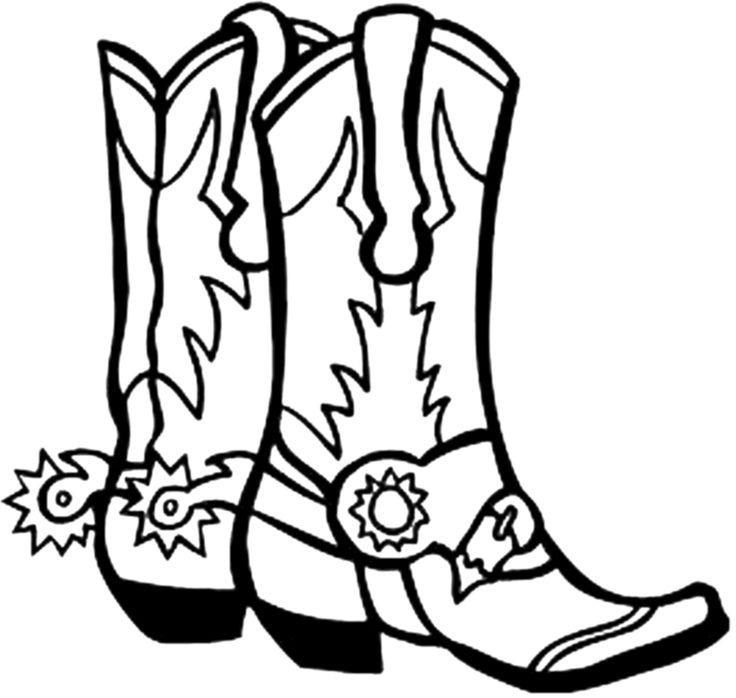 Cowboy boot clip art coloring .