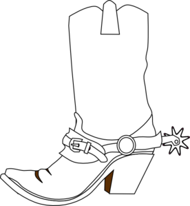 Cowboy Boot Clip Art