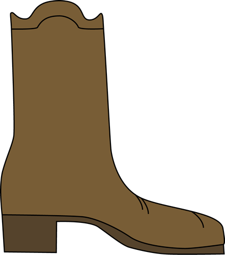 Cowboy Boot Clip Art Image Single Brown Cowboy Boot