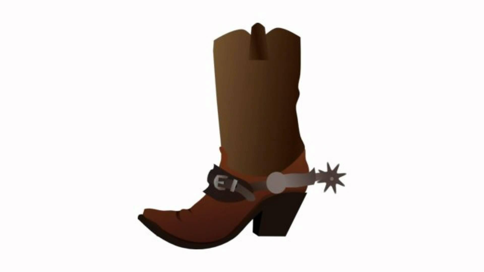 Cowboy boot cowboy spurs clipart