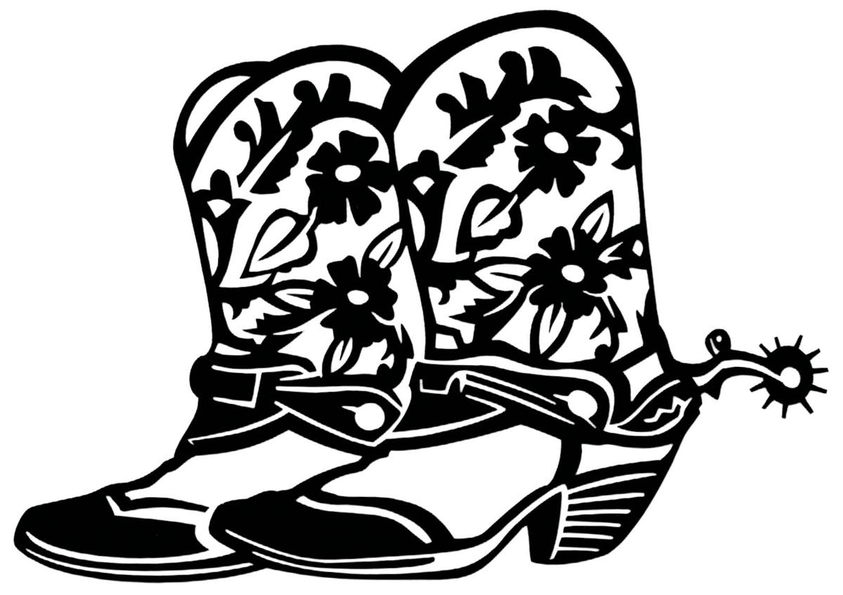 Cowboy Boots Clip Art Black .-Cowboy boots clip art black .-13