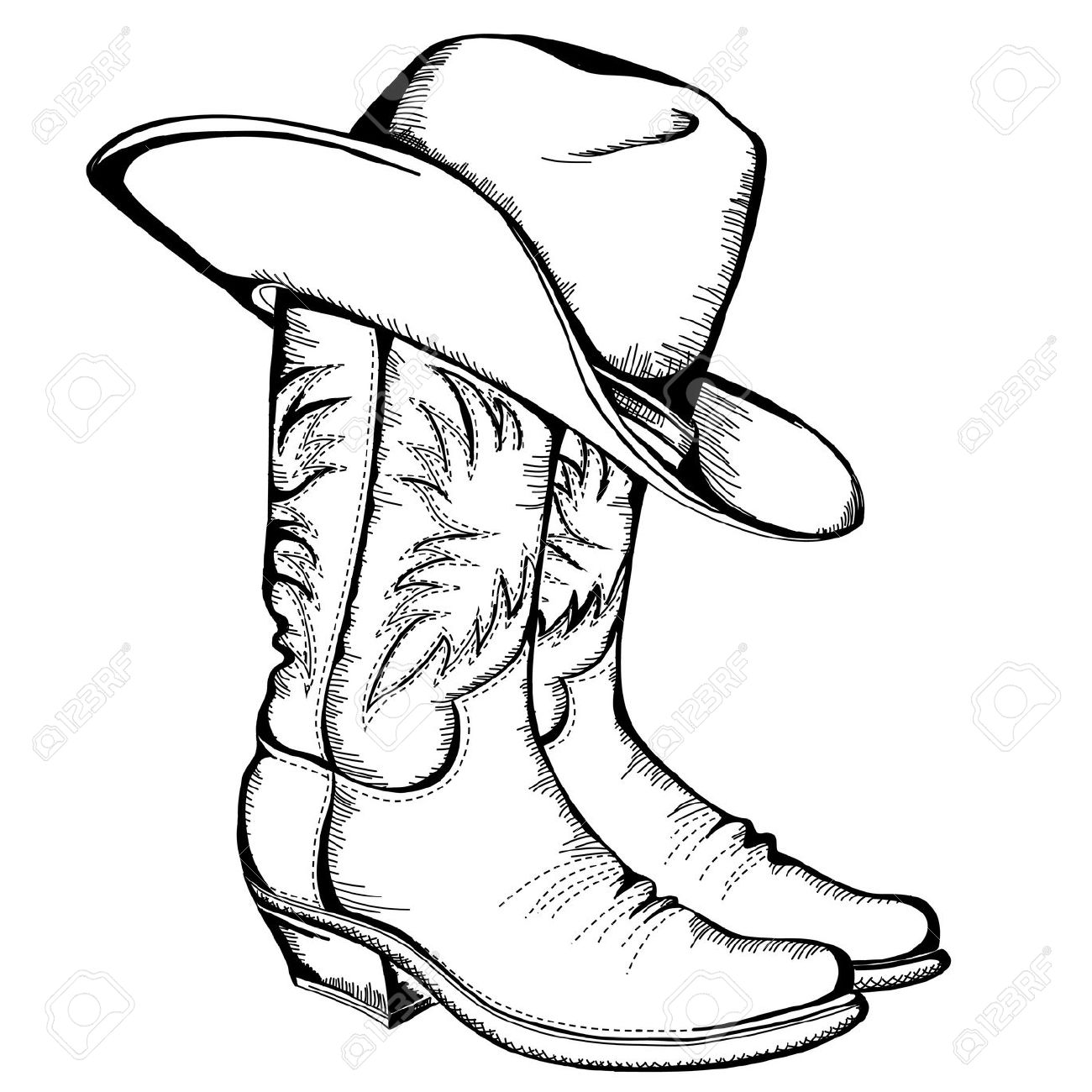 cowboy boots: Cowboy boots and .