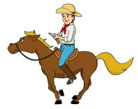 Cowboy Galloping On Horse Clipart. Size:-cowboy galloping on horse clipart. Size: 43 Kb-10