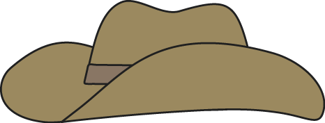 Cowboy Hat Clipart #16012. Brown Cowboy Hat