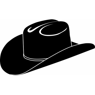 Cowboy Hat Silhouette Clipart .-Cowboy hat silhouette clipart .-14