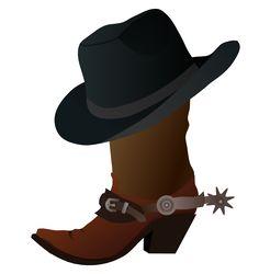 Cowboy Images Clip Art | Free Cowboy Boot with Hat Clip Art