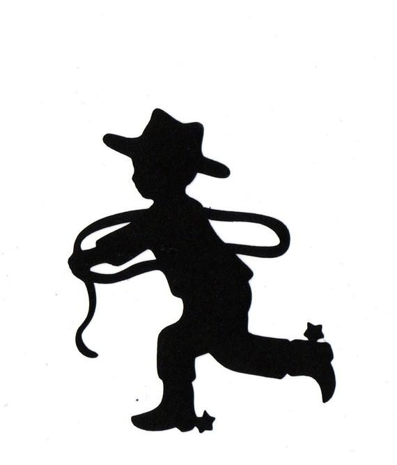 Cowboy Silhouette Clip Art Clipart Best