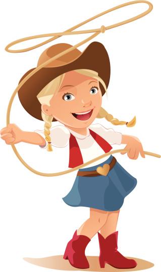 Cowgirl clipart clipartall