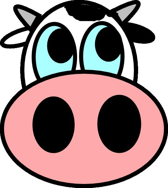 ... Cows head clipart; Cute Cartoon Cow Head Cartoon | Volvoab ...