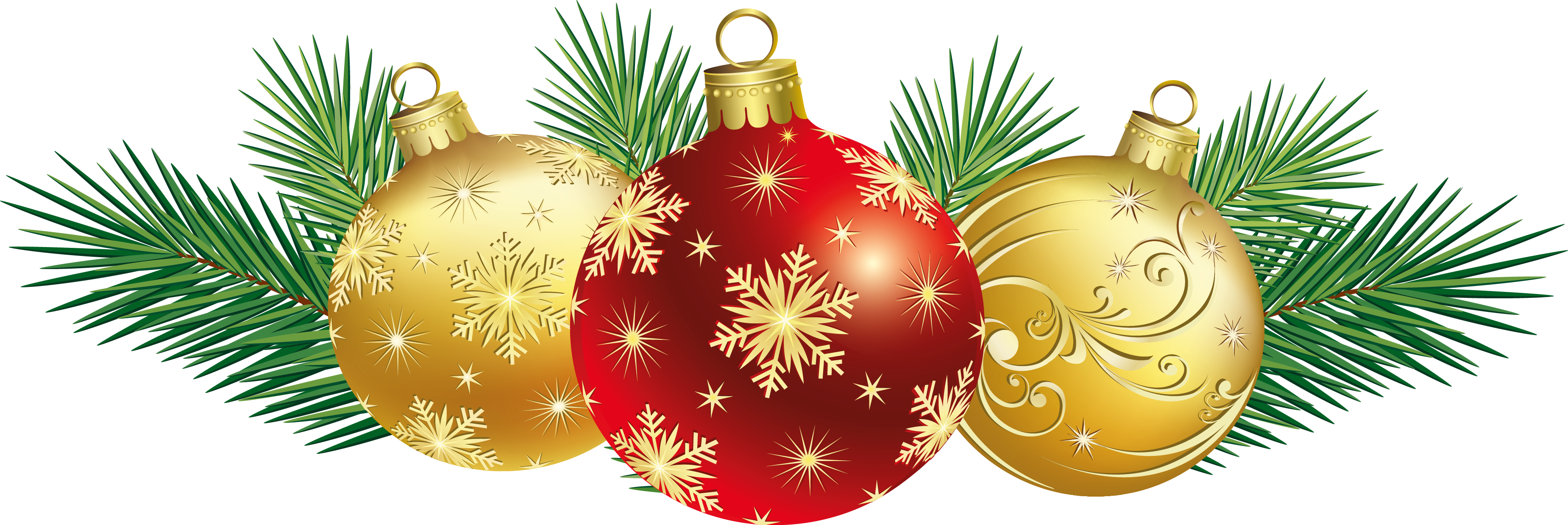 Cozy Christmas Balls . - Christmas Decoration Clipart