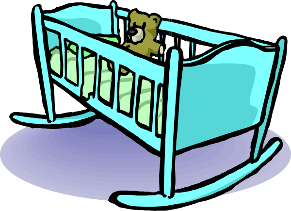 Cradle Clip Art At Clker Com  - Baby Crib Clipart
