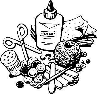 craft supplies clip art