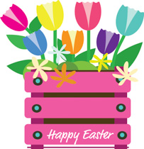 Crate Full Of Flowers To Celebrate Easte-Crate Full Of Flowers To Celebrate Easter Clipart Size: 175 Kb-16