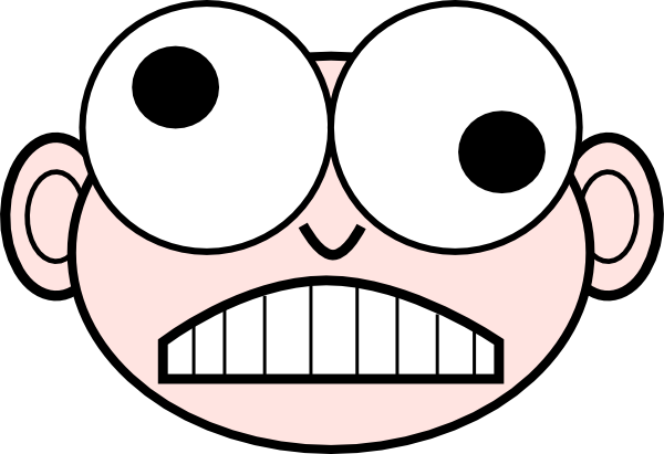 Crazy Nerd clip art - vector clip art online, royalty free