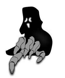 Creepy Ghost Clipart #1